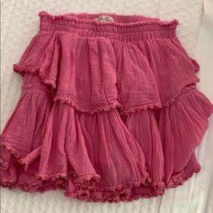 Pink Love Shack Fancy Ruffle Skirt